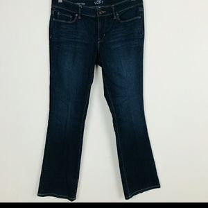 LOFT denim Jean Pant Modern Boot Blue Sz: 28/6P